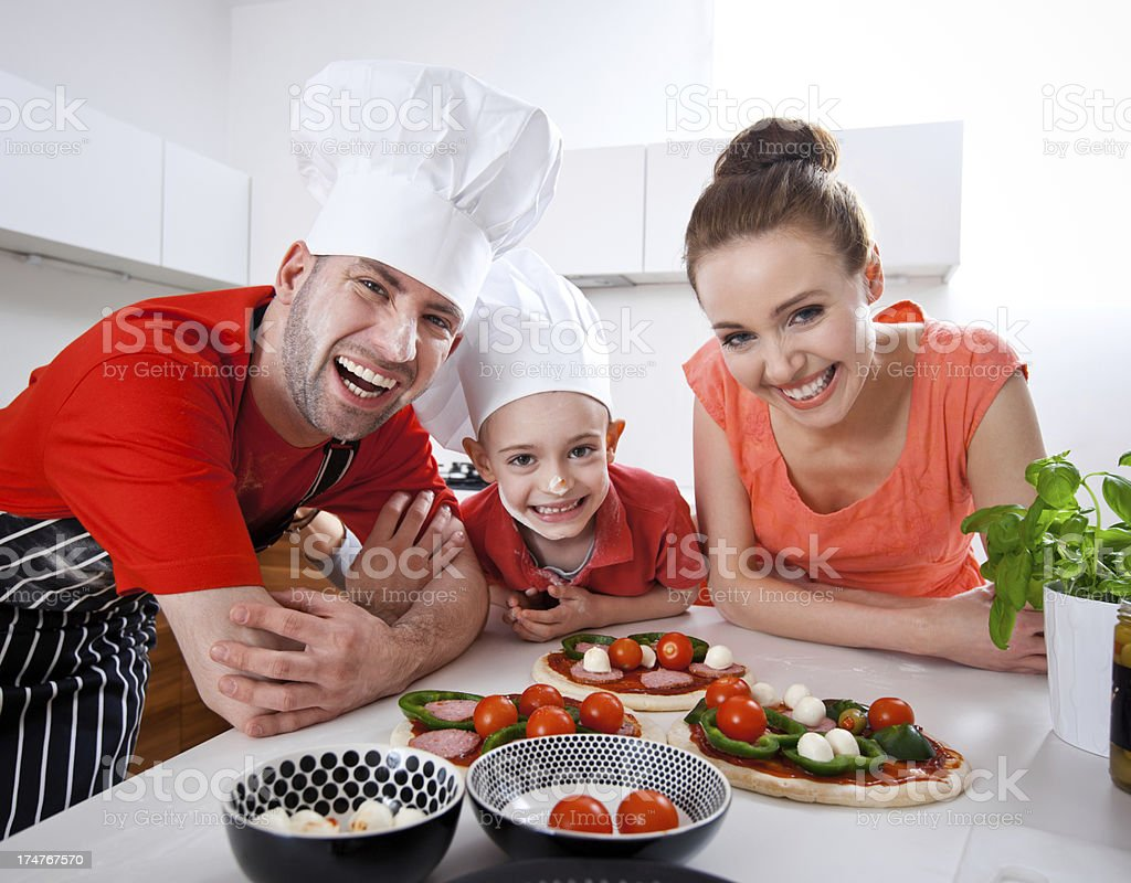 Happy Family Cooking Together royalty-free stock photo