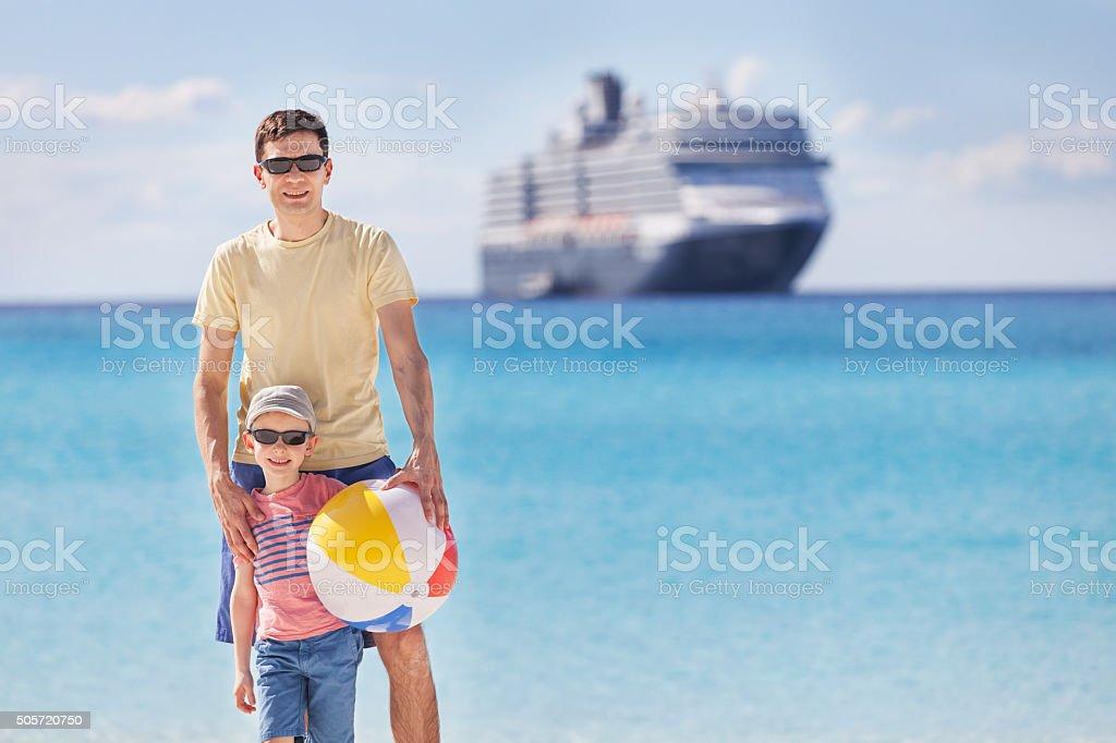 happy family cruising stock photo
