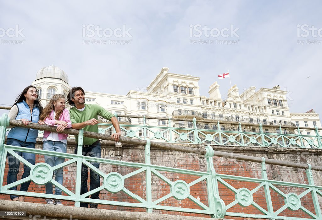 Happy Family Day at Brighton, UK stock photo