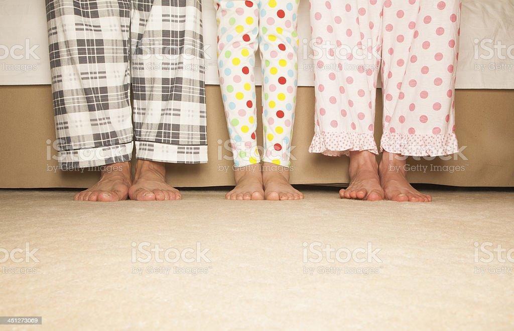 Happy Family Feet stock photo