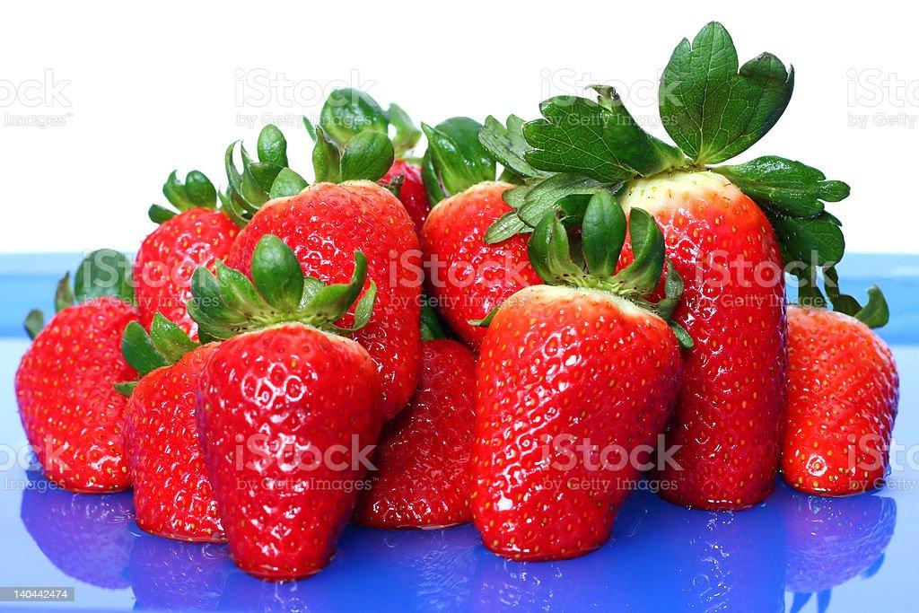 'Happy family', fresh strawberries royalty-free stock photo