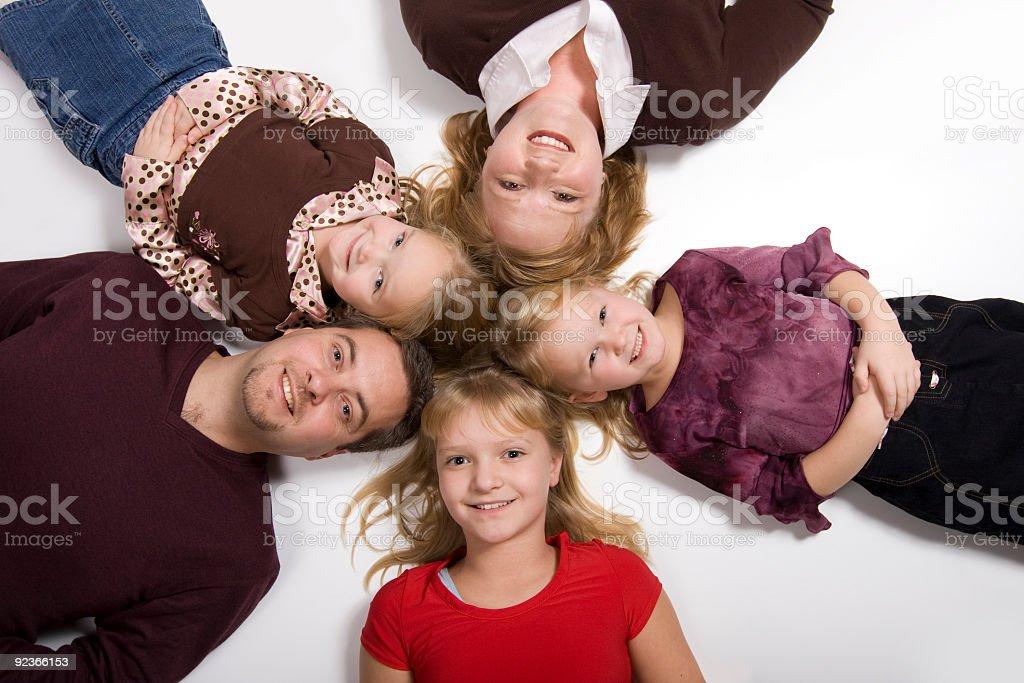 Happy Family in Circle stock photo