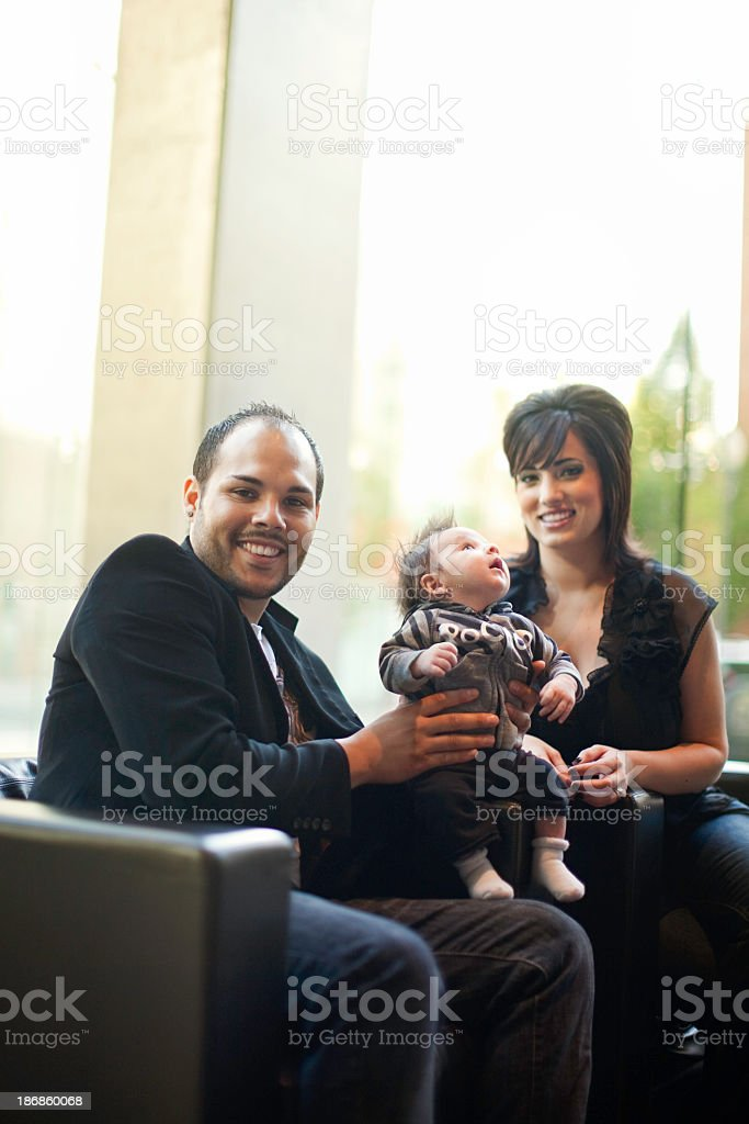 Happy Family In Modern Home royalty-free stock photo