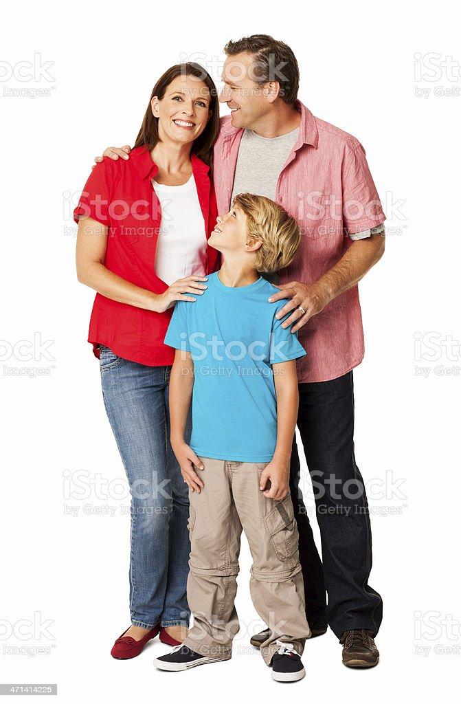 Happy Family - Isolated royalty-free stock photo