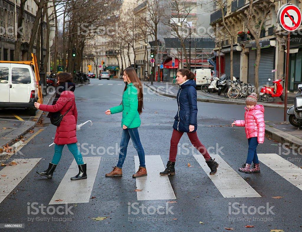 Happy family moments - girls having fun stock photo