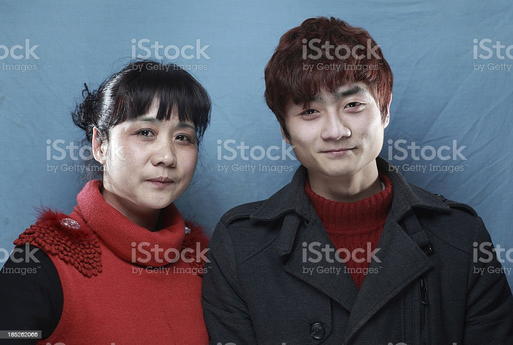 Happy family of the Chinese nation royalty-free stock photo