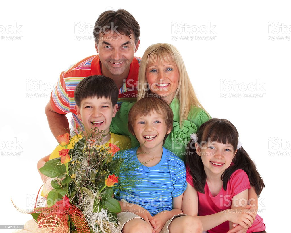 Happy family on mothers day royalty-free stock photo