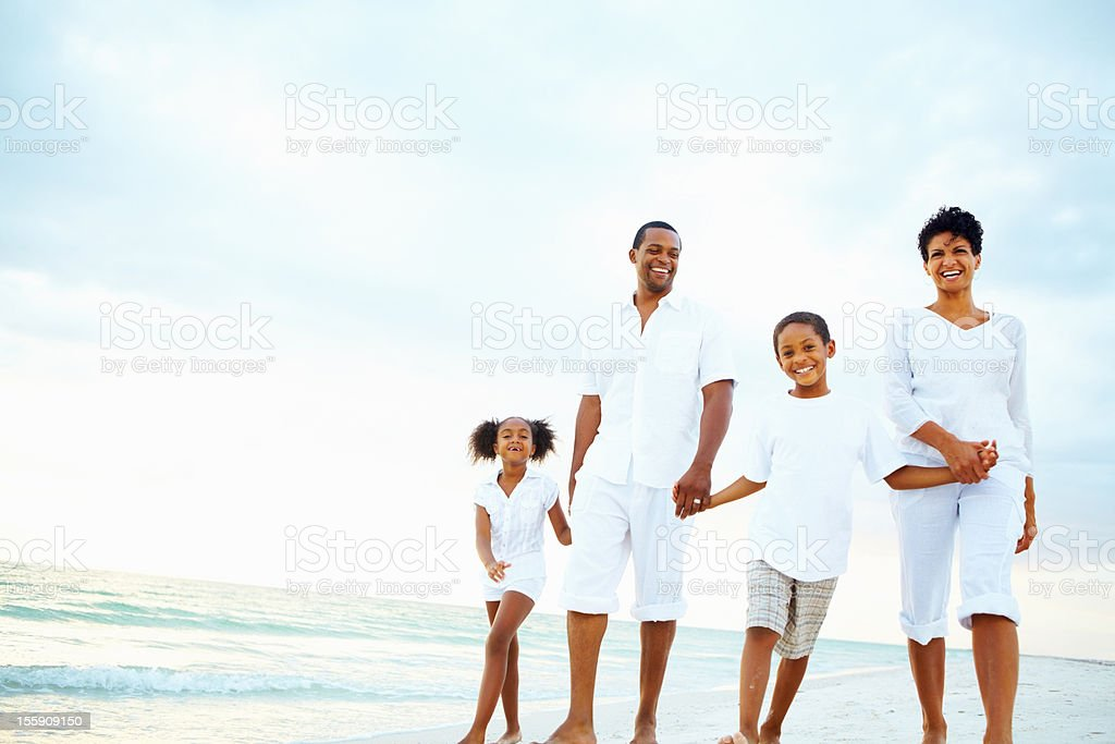 Happy family on vacation royalty-free stock photo