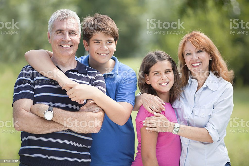 Happy family outdoor royalty-free stock photo