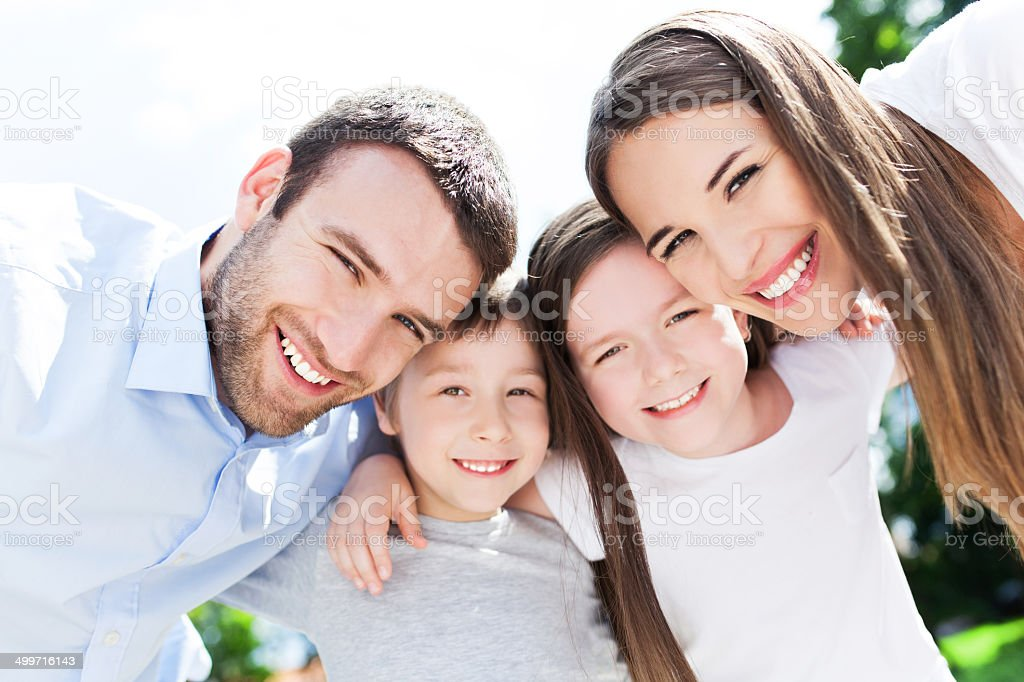 Happy family outdoors