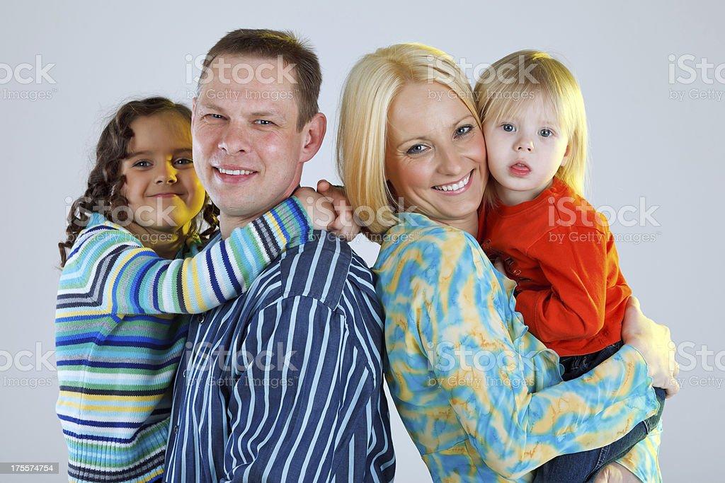 Happy family photo royalty-free stock photo