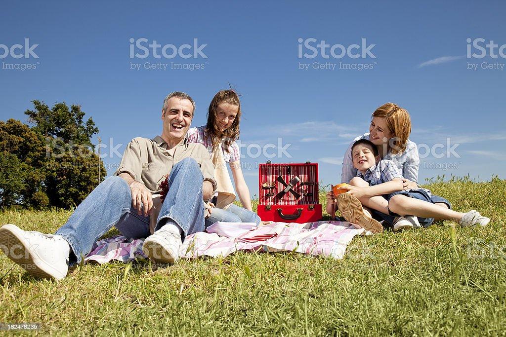 Happy family picnic royalty-free stock photo