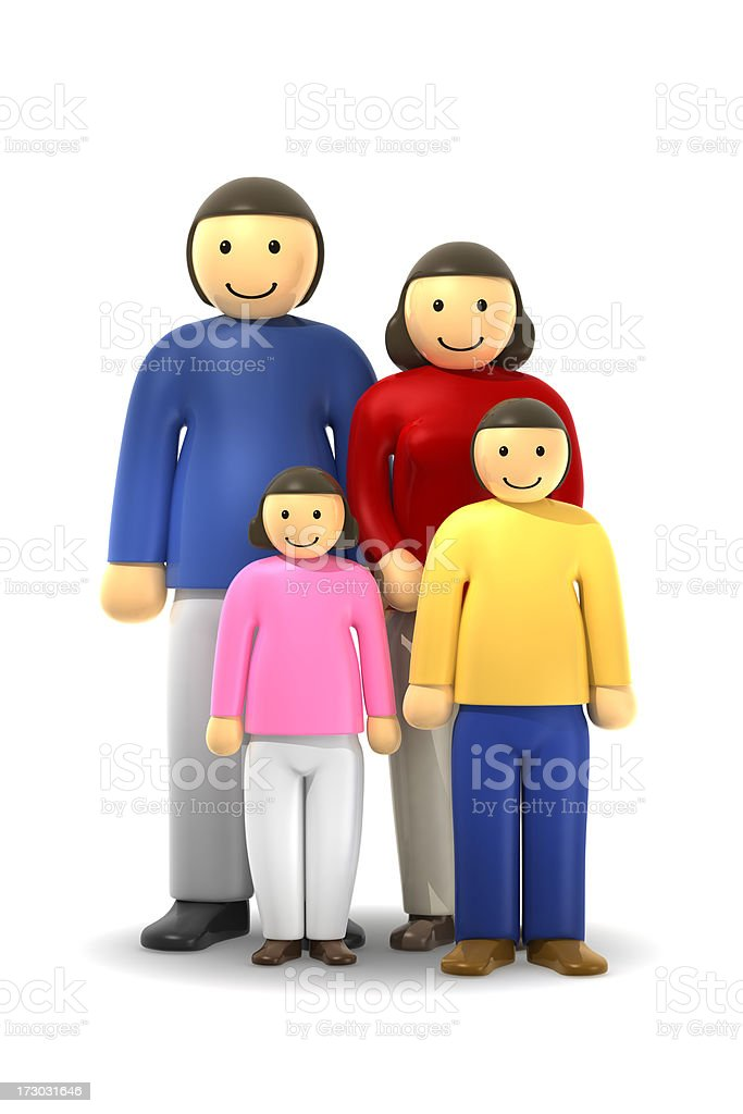幸せな家族 ロイヤリティフリーストックフォト