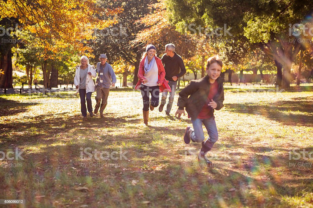 Happy family playing stock photo