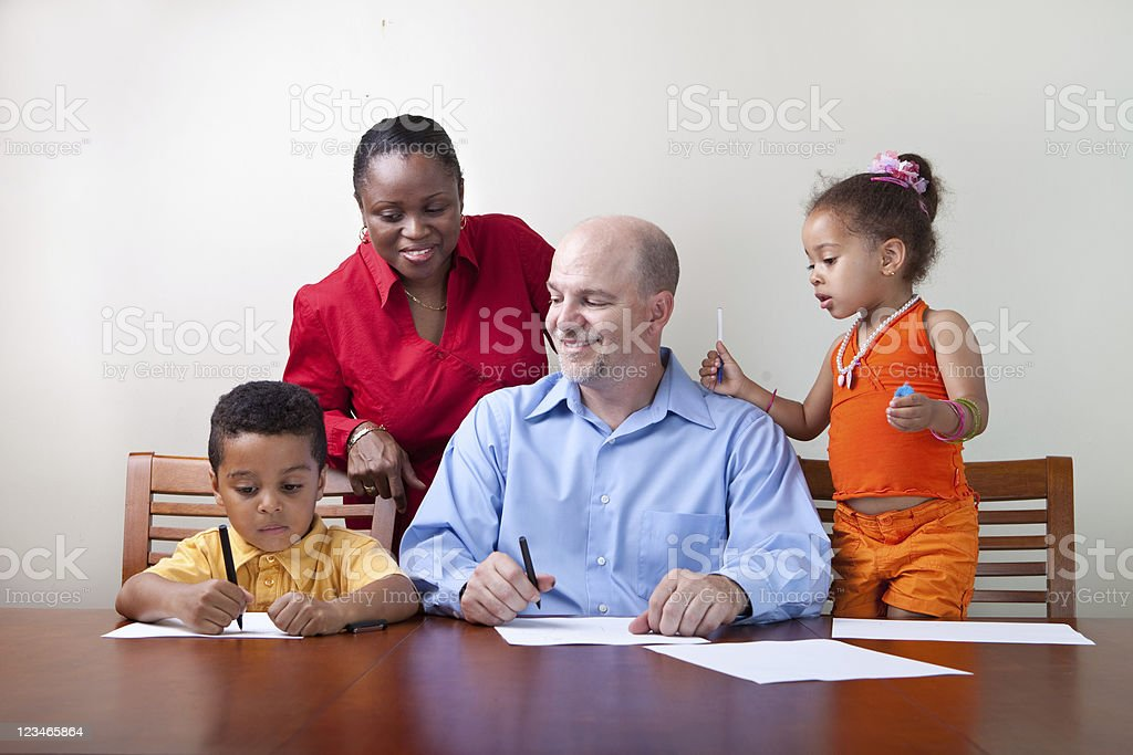 Happy Family Portrait royalty-free stock photo
