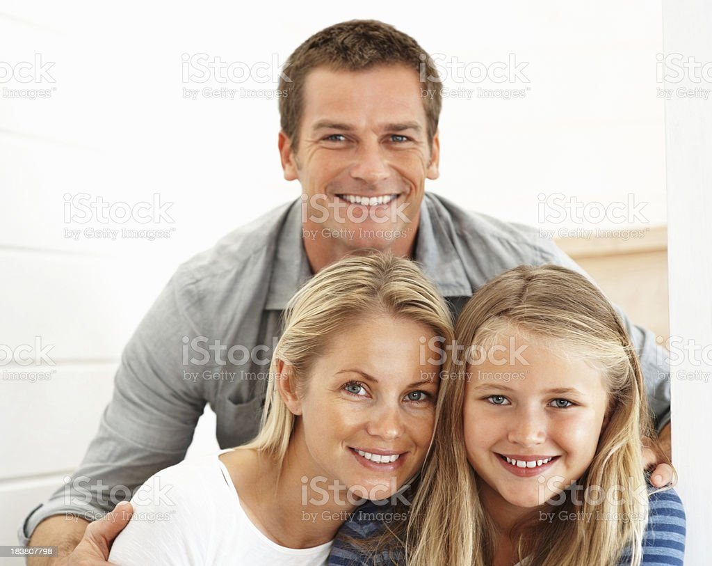 Happy family smiling together royalty-free stock photo