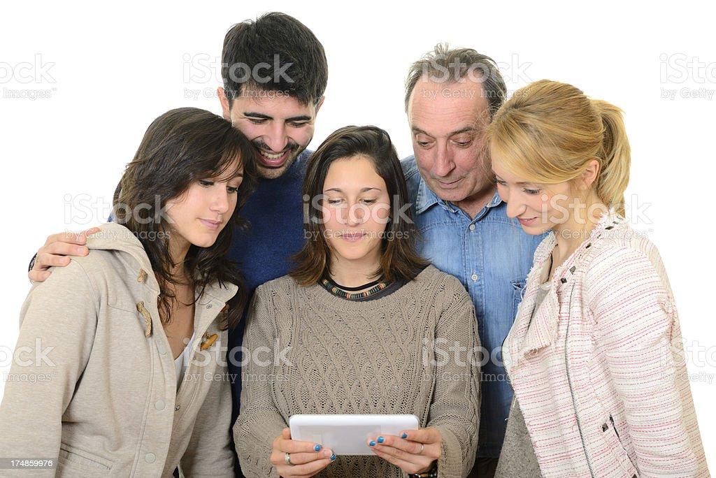 Happy Family Using Digital Tablet royalty-free stock photo