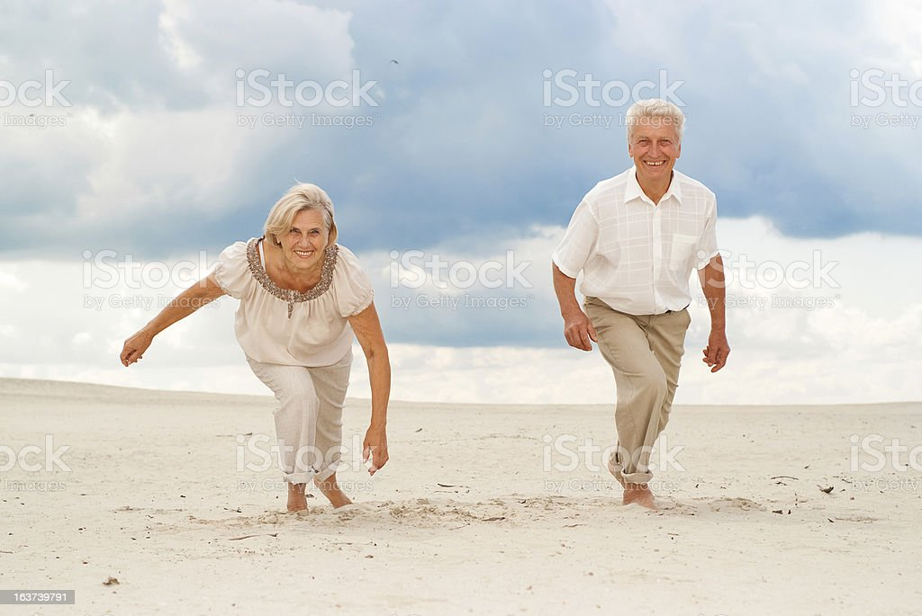 Happy family went for a walk royalty-free stock photo