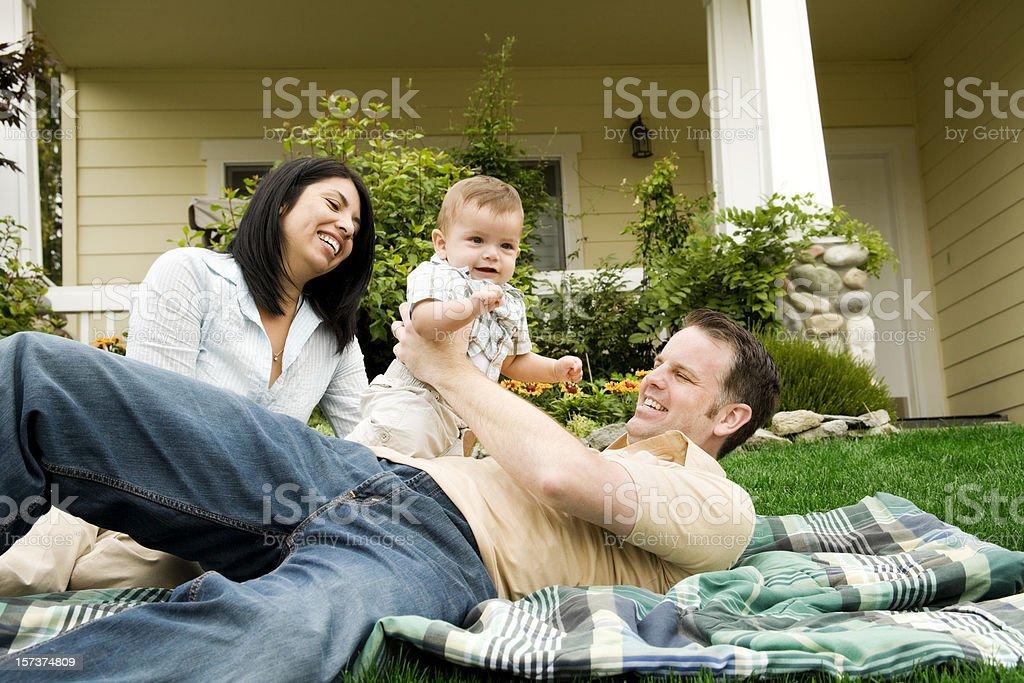 Happy Famly at Home royalty-free stock photo