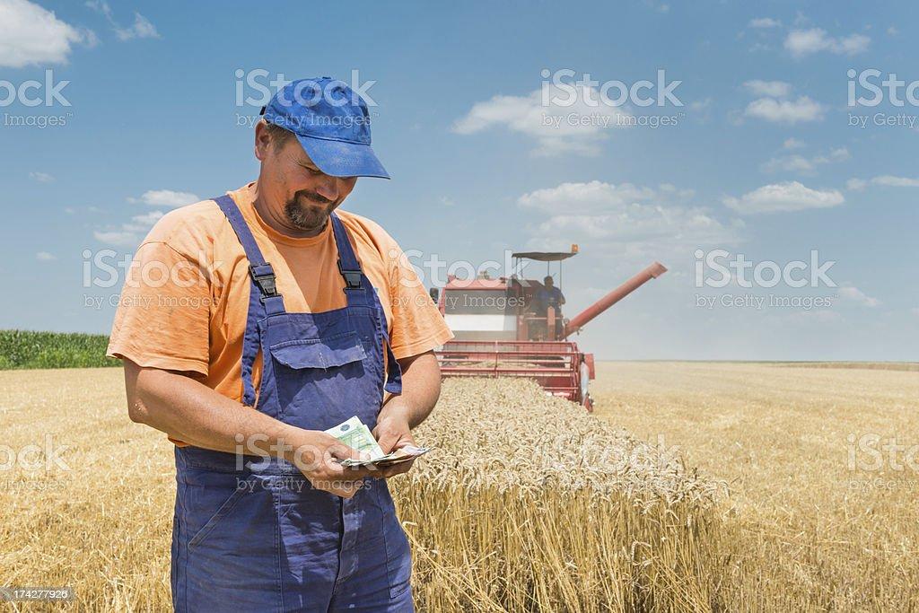 happy farmer royalty-free stock photo