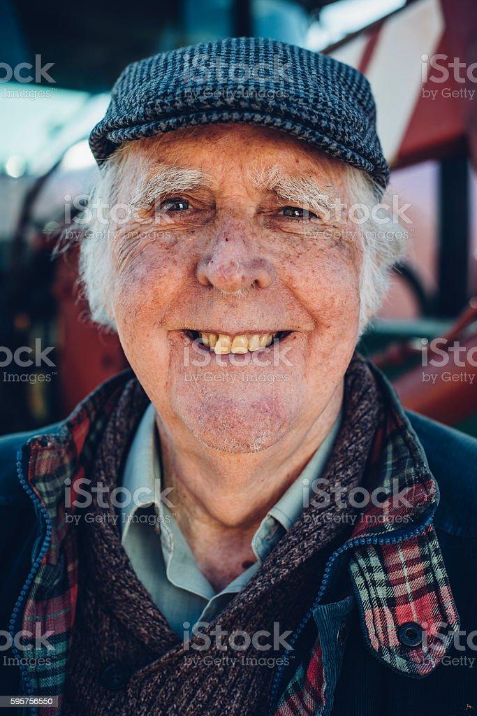 Happy Farmer stock photo
