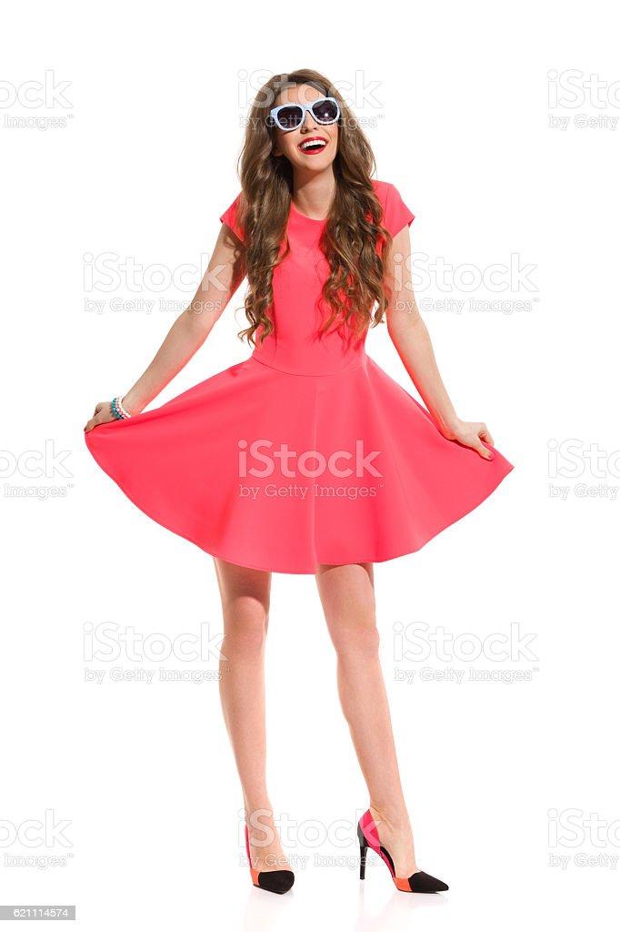 Happy Fashionable Woman stock photo