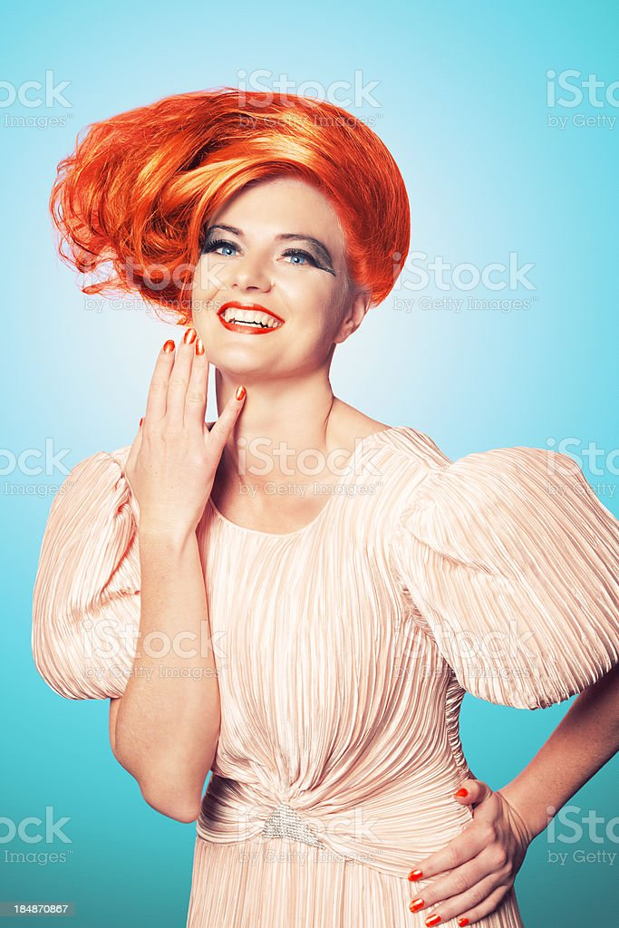 Happy Fashionista royalty-free stock photo