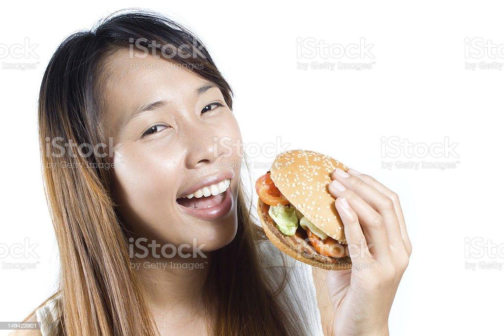 Happy fastfood royalty-free stock photo