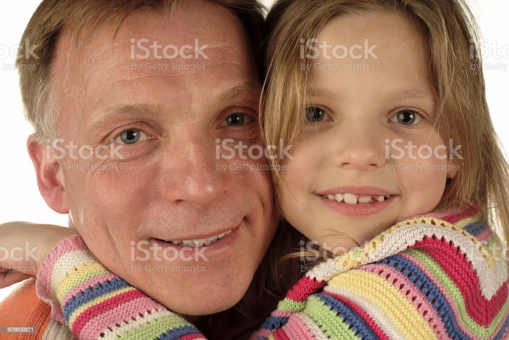 happy father and daughter closeup royalty-free stock photo