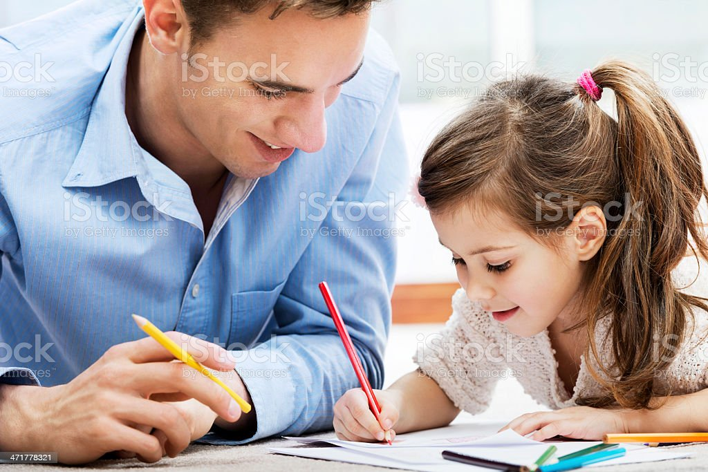 Happy father enjoying with his daughter. royalty-free stock photo