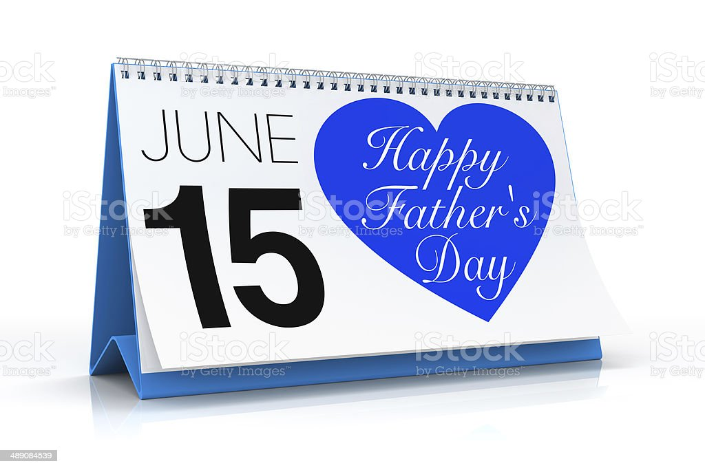 Happy Father's Day Calendar royalty-free stock photo