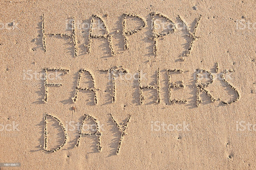 Happy Fathers Day royalty-free stock photo