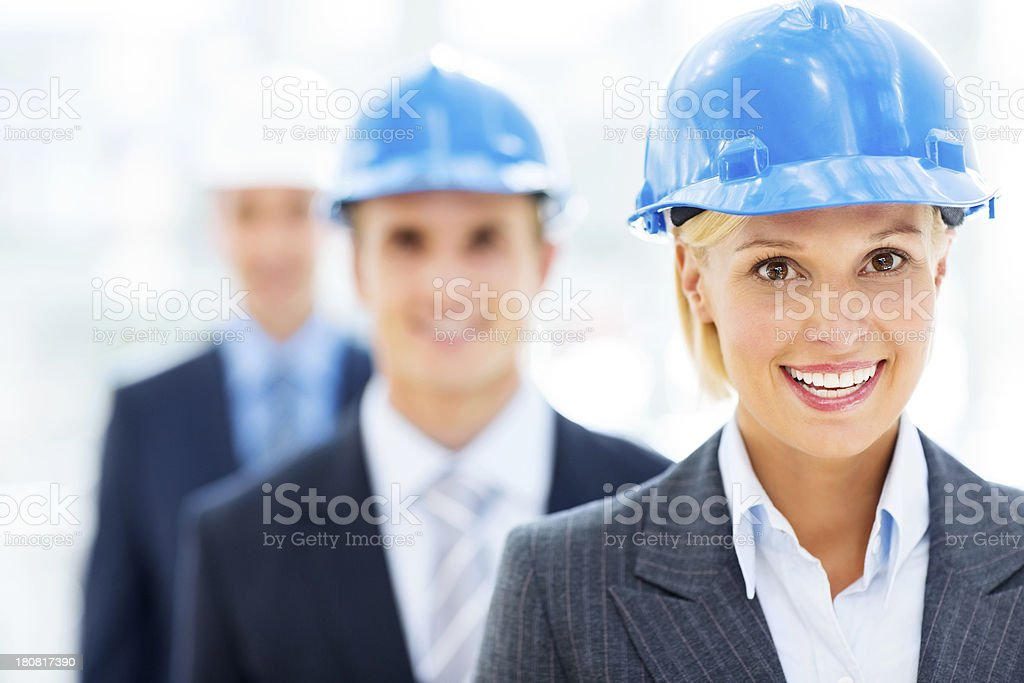 Happy Female Architect royalty-free stock photo