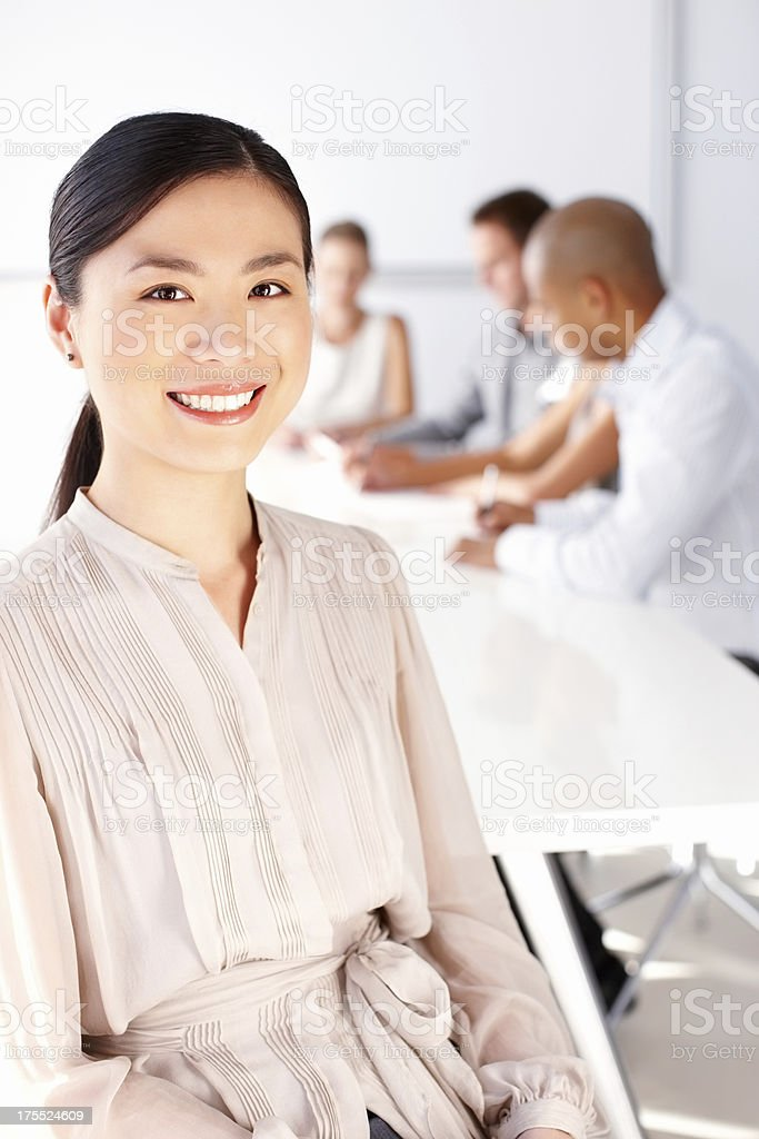 Happy Female Business Worker royalty-free stock photo
