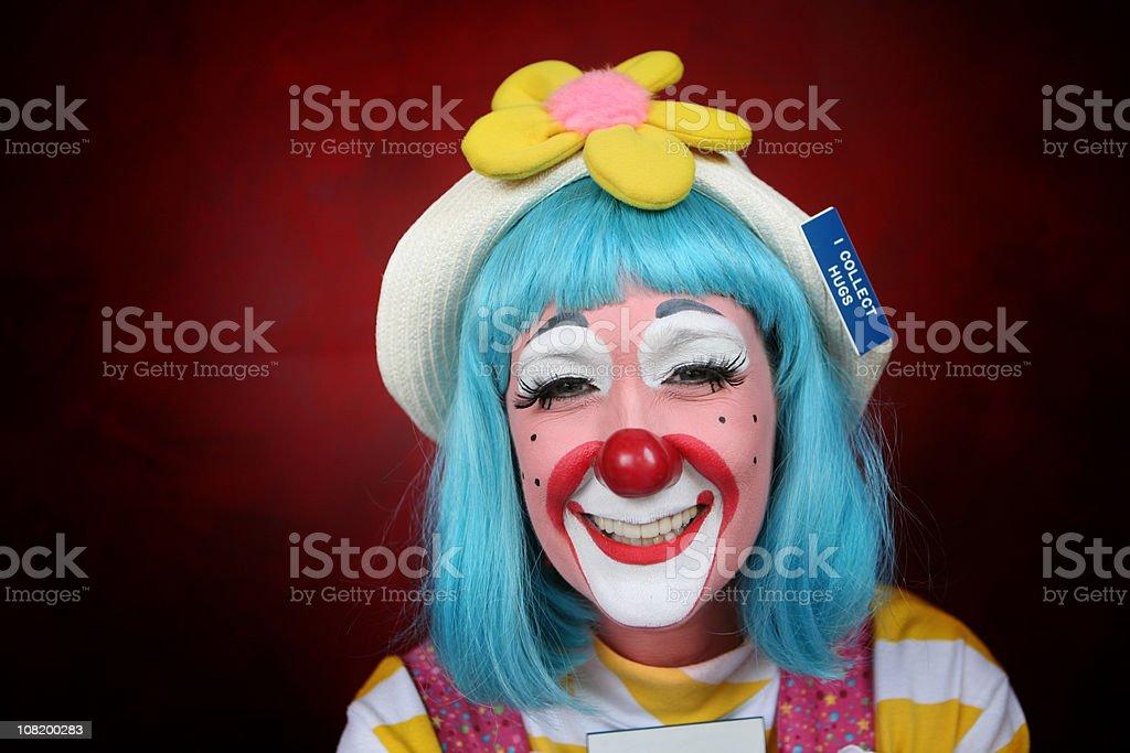 Happy Female Clown stock photo
