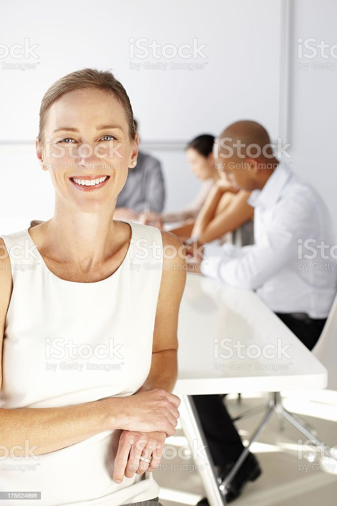 Happy Female Corporate Worker royalty-free stock photo
