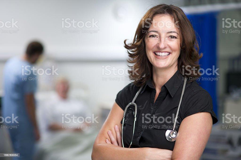 happy female doc stock photo