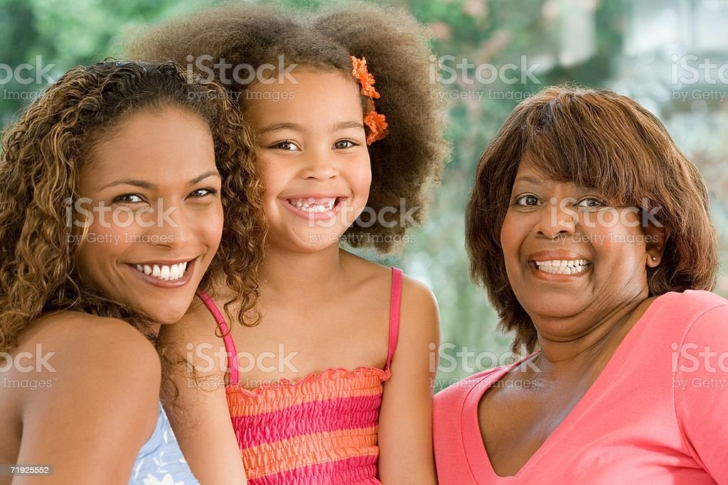 Happy female family royalty-free stock photo