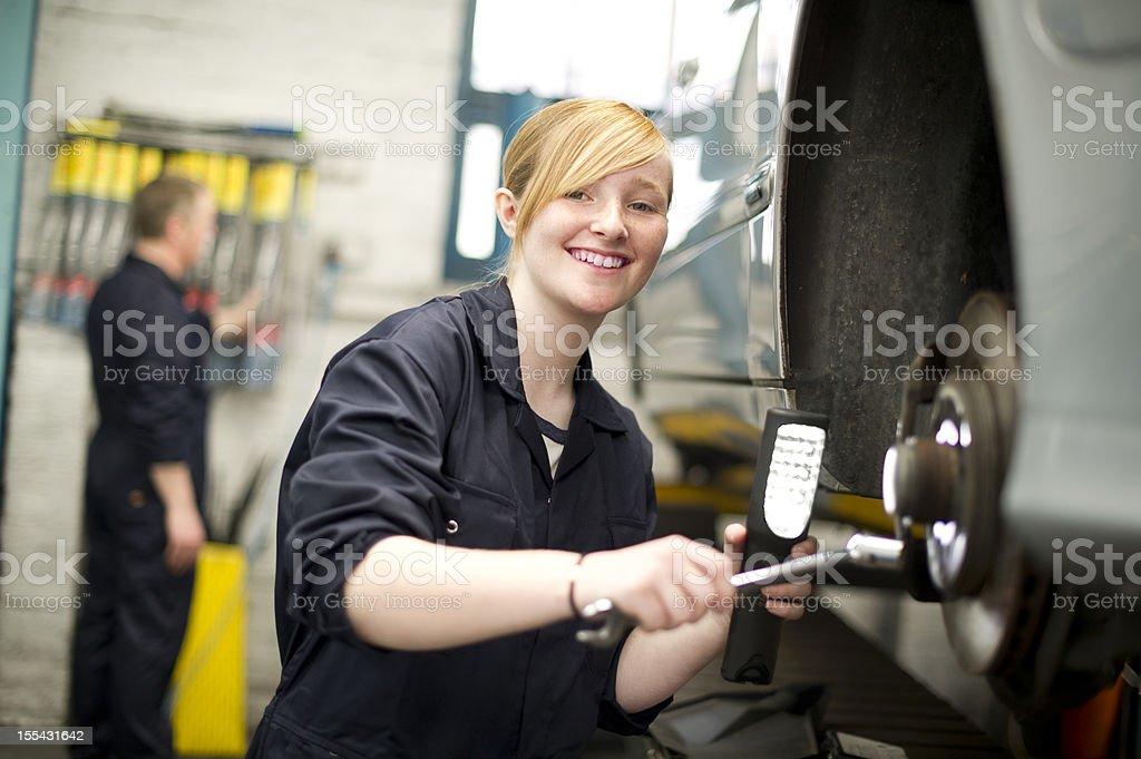 happy female mechanic royalty-free stock photo