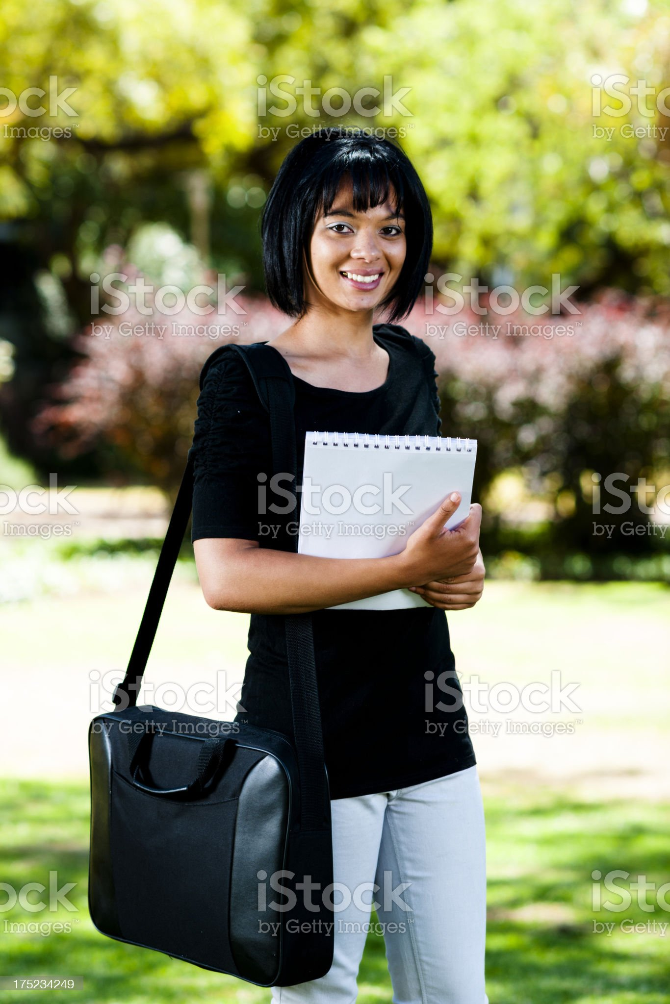 Happy female student royalty-free stock photo