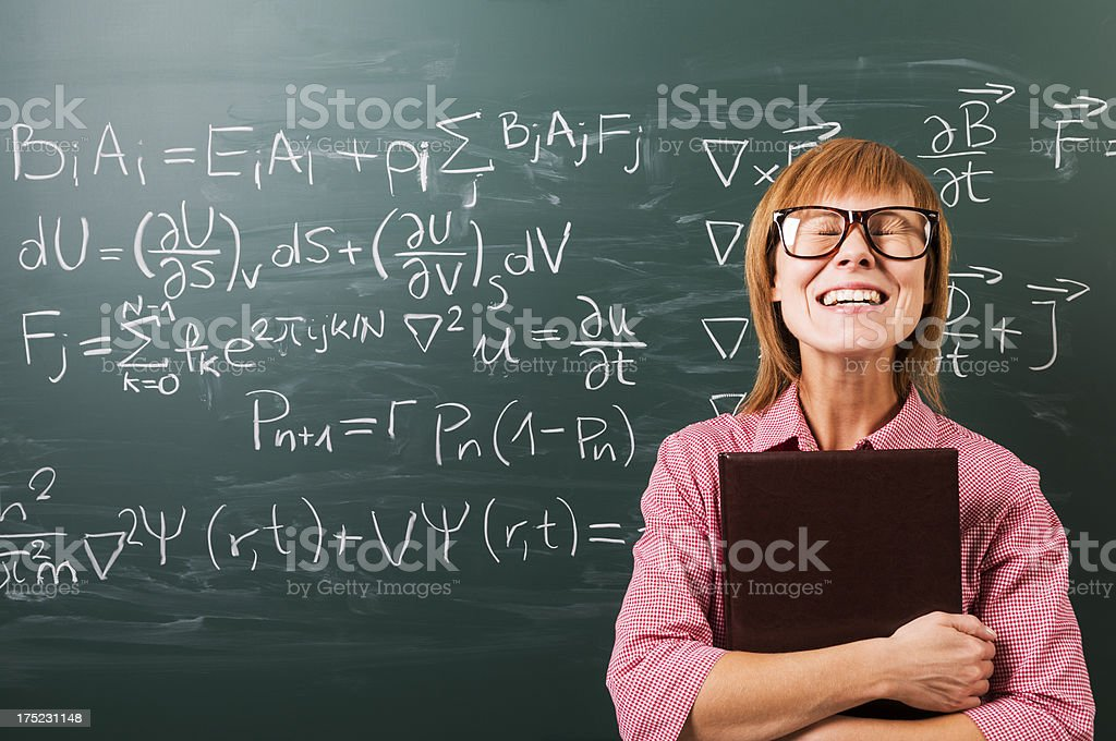 Happy female student toothy smiles, passed examination royalty-free stock photo