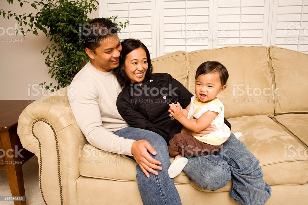 Happy Filipino- Asian -Pacific Islander-American Family XXL royalty-free stock photo
