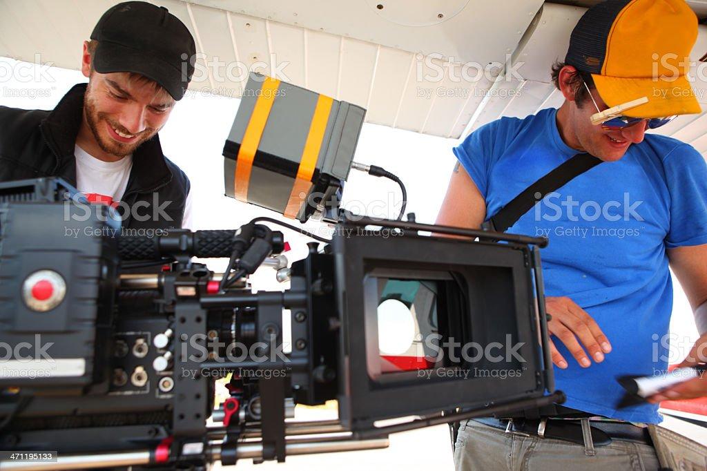 Happy Film Crew stock photo