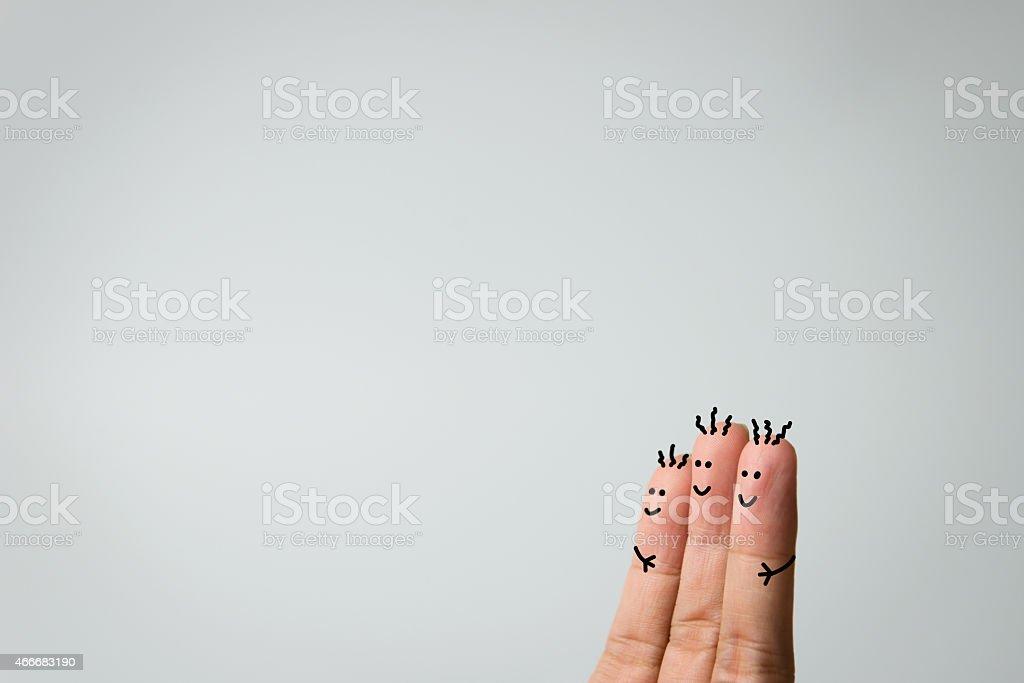 Happy fingers stock photo