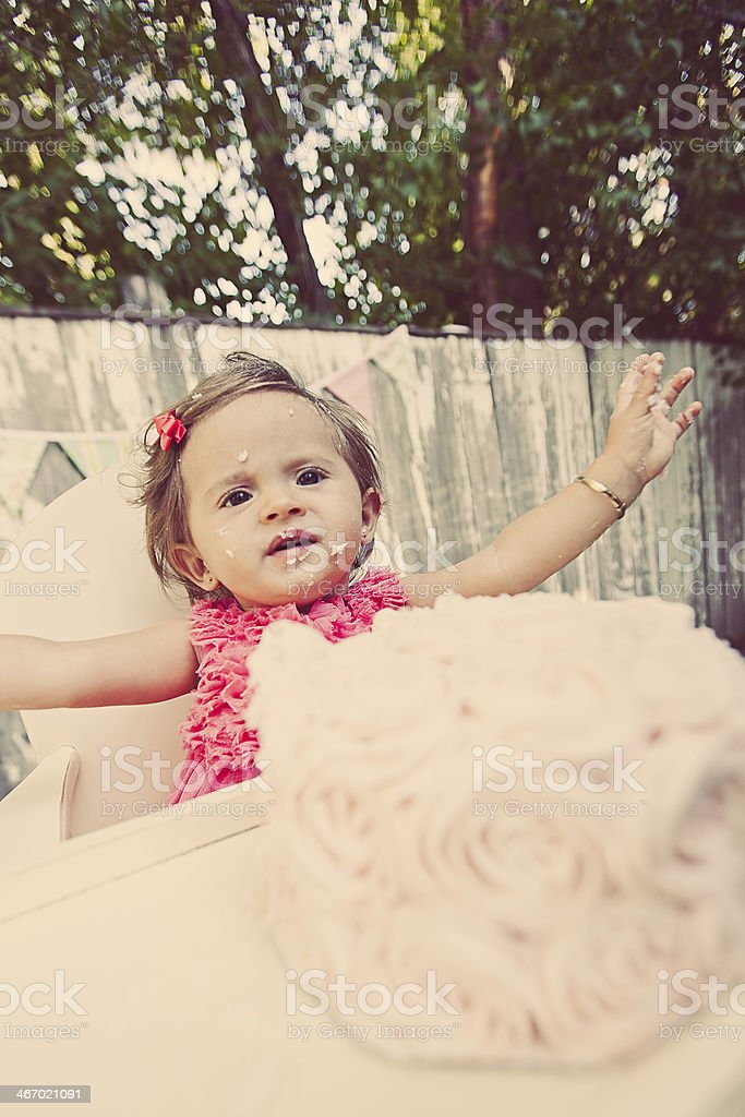 Happy First Birthday royalty-free stock photo