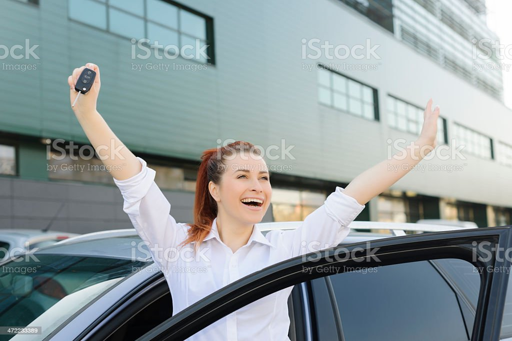 happy for my car stock photo