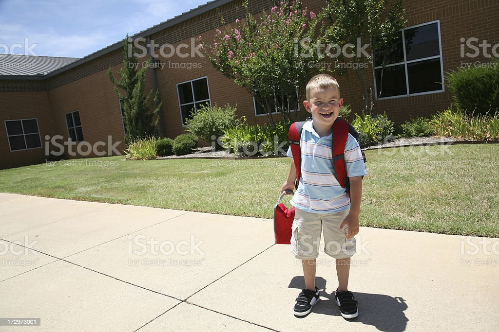 Happy for Start of School royalty-free stock photo