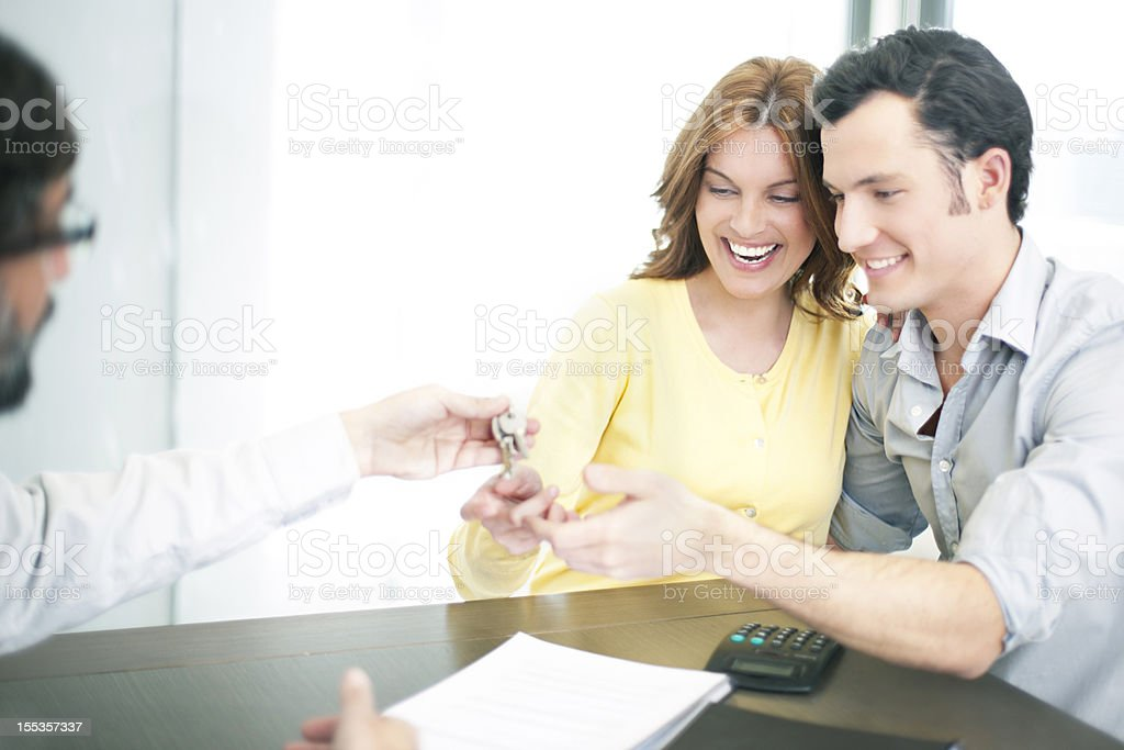 Happy for the new investment royalty-free stock photo