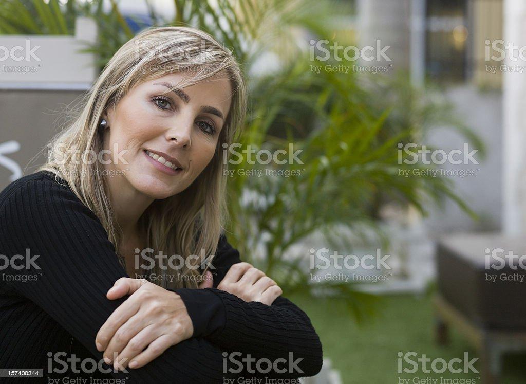 Happy forties stock photo