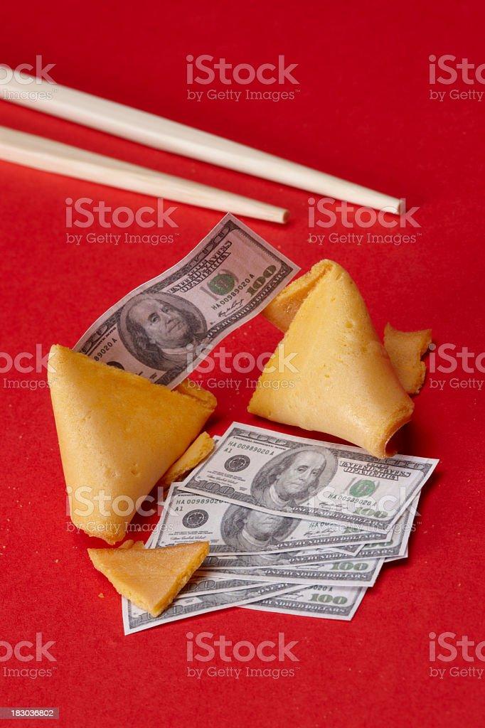 Happy fortune stock photo
